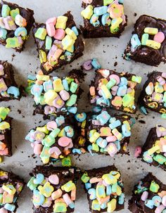 one bowl fudgy whiskey chocolate cake - with irish cream chocolate ganache (and lucky charms marshmallows...) I howsweeteats.com