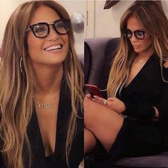 Jennifer Lopez - New Site J Lo Fashion, Fashion Beauty, Fashion Ideas, Autumn Fashion, Jlo Style, Cute Glasses, Fashion Eye Glasses, Coco Mademoiselle, Brown Blonde Hair