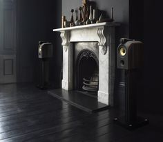 The Bowers and Wilkins PM1 speakers are small stand mount speakers that pack a punch, with great bass from a small cabinet and a sweet treble from the aluminium tweeter. £2,400 for the speakers with stands represents great value small speakers.