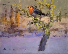 Robin in the Snow, by Fred Cuming (20th century)