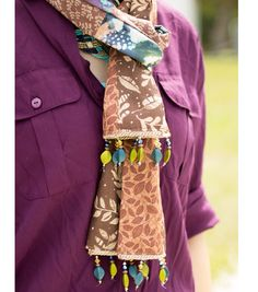 How To Make An Autumn's Embrace Beaded Fringe Scarf