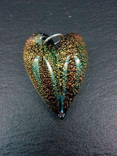 Dichroic hart hanger door VandenBosGlaskunst op Etsy