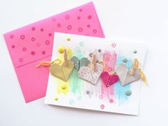 Blog: Make a Pretty Banner for Your Next Card | Lilin Fang - Scrapbooking Kits, Paper & Supplies, Ideas & More at StudioCalico.com!