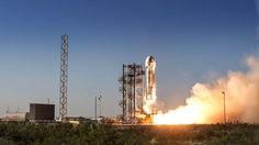 For its fifth and final test flight, Blue Origin is testing the New Shepard rocket's emergency crew escape system. The post Jeff Bezos' Blu. New Shepard, Content Area, Space Exploration, Lesson Plans, Explore, How To Plan, Final Test, Explosions, Blue