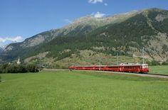Zernez im Sommer mit Eisenbahn Swiss Railways, Switzerland, Wanderlust, Mountains, Nature, Pictures, Travel, Beautiful, Summer