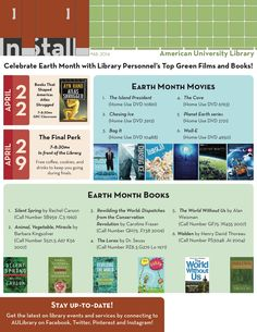 Earth Month: Top Films and Books  #48 2014