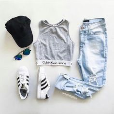 Adidas Women Shoes - รูปภาพ adidas, fashion, and Calvin Klein - We reveal the news in sneakers for spring summer 2017 Teen Fashion Outfits, Outfits For Teens, Fall Outfits, Casual Outfits, Fashion Clothes, Casual Teen Fashion, Fashion Shoes, Casual Jeans, Style Clothes