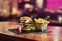 Burger and fries @ Mercure Poznan Zentrum #Food #Poland