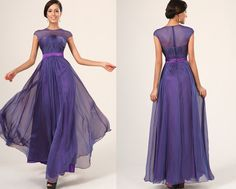 New Fabulous Sleeveless Evening Dress Party Gown  by STHNAB, etsy, $215.00