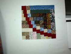 """Snake River Log Cabin block made by reader who says, """"