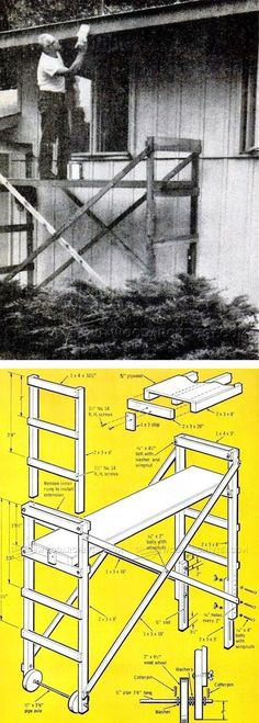 Build Mobile Scaffold - Woodworking Plans and Projects | WoodArchivist.com