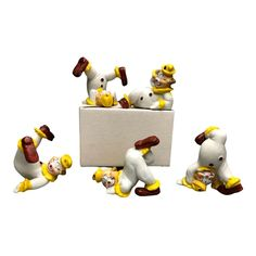 5 Tumbling Clowns Bisque Porcelain Figurines JSNY Vintage - Taiwan #JSNY #AllOccasions Pierrot Clown, Clowns, Dinosaur Stuffed Animal, History, Learning, Animals, Ebay, Vintage, Historia