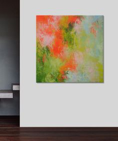 Elena Petrova 36x36 abstract painting by ElenasArtStudio on Etsy, $339.00