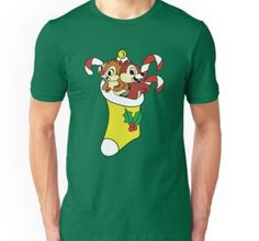 'Chip and Dale in Christmas mood' by FunIlustrations Chiffon Shirt, Chiffon Tops, Chip And Dale, Christmas Mood, Long Hoodie, Neck T Shirt, Laptop Sleeves, Classic T Shirts, Mini Skirts