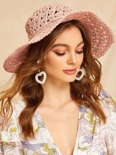 To find out about the Flower Decor Hollow Straw Paper Floppy Hat at SHEIN, part of our latest Hats & Gloves ready to shop online today! Home Flower Decor, Flower Decorations, Summer Hats For Women, Hats For Men, Wide Brim Sun Hat, Flower Hats, Hats Online, Deviantart, Scarf Hairstyles