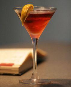Cranberry kiss cocktail.Alcoholic cocktail with vodka,cranberry juice and Amaretto cream liqueur.