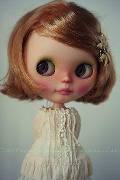 Blythe Doll Caramel Apple by Forty Winks Doll Studio, via Flickr
