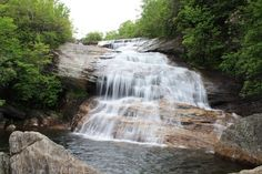 Gorgeous Spring waterfalls, it's a must hike location - Blue Ridge Parkway & Middle Falls.