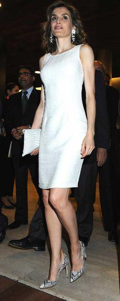 La Reina ha elegido un vestido clásico blanco para la ocasión, 12.07.2016