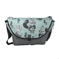 Whimsical without being childish. plus I love mermaids. Pearla Mermaid Messenger Bag by Fluff Custom Messenger Bags, Messenger Bag Men, Clutch Purse, Purse Wallet, Denim Purse, Vintage Mermaid, Pack Your Bags, Beautiful Bags, Purses And Bags