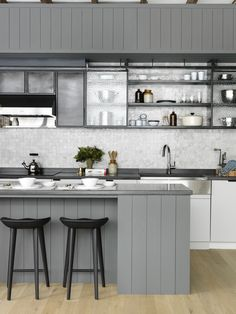 BarlisWedlick open kitchen in a barn-style Passive House | Remodelista