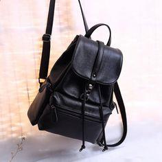 36bf819cf1491 Neue Frauen Rucksack echtes Leder Rucksäcke für Frauen mit Reißverschluss  Schultasche für Teenager Mädchen Reisen Rucksack