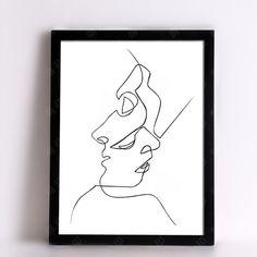 Minimalist Wall Art, Abstract Figures