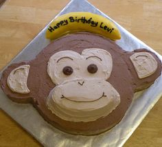 Like having the writing on the banana Monkey See Do Cakes From Melissa