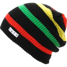 As far as beanies go the Neff Daily Stripe black rasta beanie is about as soft and comfortable as they come. This classic style knit beanie features red, yellow and green rasta stripes on an all black beanie and a Neff logo tag near the cuff for extra Nef Crochet Mens Hat Pattern, Knit Crochet, Bob Marley, Stoner Style, Reggae Style, Dope Hats, Loom Knitting, Swagg, Hats For Men