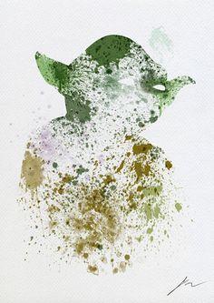 Yoda aquarela