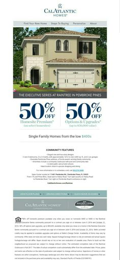 Great deals happening right now at Raintree in Pembroke Pines! 50% off upgrades & lot premiums http://bit.ly/raintree_es