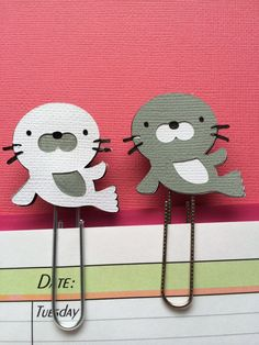 Seal Bookmark Filofax Planner Paperclip on Etsy, $1.25