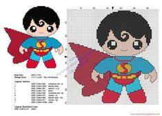 Baby Superman Superheroes patrones punto de cruz