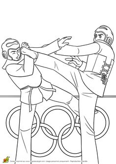 karate coloring pages for kids | Tae Kwon Do | Pinterest