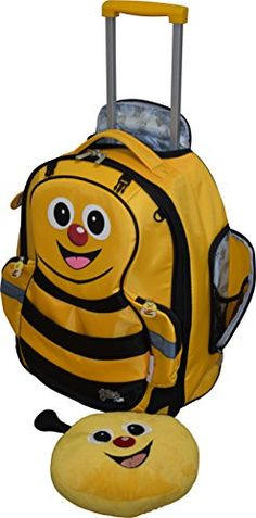 Luggage Tags Collections | The Cuties  Pals Kids Unisex 17 Carry On Luggage Rolling Backpack Bee >>> Check this awesome product by going to the link at the image. Note:It is Affiliate Link to Amazon. #sunset
