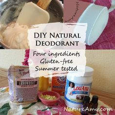 An all-natural simple deodorant recipe that actually works! It even goes on just…