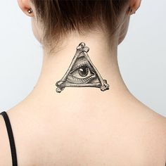 Illuminati Temporary Tattoo Set of 2 by Tattify on Etsy