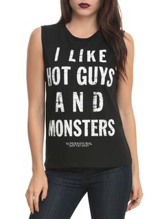 Supernatural Hot Guys And Monsters Girls Muscle Top | Hot Topic