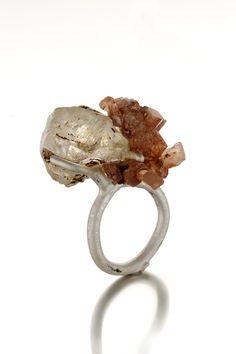 "Catalina Brenes Joyeria     ""Respiro"" / ring / silver 925, smoked quartz and citrine / 2011 / unique piece"
