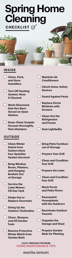 Excellent Photographs Spring Home Maintenance and Cleaning Spring Cleaning Organization, Cleaning Fun, Spring Cleaning Checklist, House Cleaning Tips, Deep Cleaning, Home Safety, Spring Home, How To Clean Carpet, Clean House