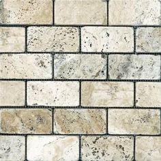 Discount Glass Tile Store - Tumbled Travertine - Picasso 2x4, $6.99 (http://www.discountglasstilestore.com/tumbled-travertine-picasso-2x4/)