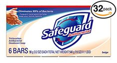 Safeguard Antibacterial Bar Soap Invigorating scent Long lasting deodorant protection Eliminates of Bacteria! Help Retain Your Skin's Natural Moisture Help Leave Skin Feeling Naturally Healthy - NOT Tight & Dry! Ivory Bar Soap, Organic Body Wash, Antibacterial Soap, Body Cleanser, Face And Body, Deodorant, Natural Skin, Healthy Skin, Cool Things To Buy