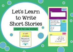 Learn to Write a Short Story SmartBoard Lesson for Beginning Writers (.notebook file) $