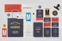 Rice Creative designed this elegant and simple packaging for Maison Marou  which is a cafe, patisserie, and gourmet chocolate factory in Saigon,  Vietnam.