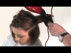 Укладка феном длинных, средних, коротких волос: видео