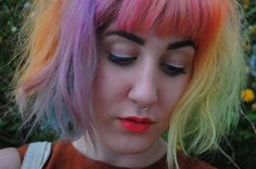 spookypuke: rainboooooow hair