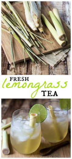 Fresh lemongrass tea is easy to make and oh-so-addictive! Get refreshed this sum… – Gesundes Abendessen, Vegetarische Rezepte, Vegane Desserts, Lemongrass Recipes, Lemongrass Tea, Healthy Drinks, Healthy Eating, Healthy Recipes, Detox Recipes, Iced Tea Recipes, Drink Recipes, Snacks Saludables