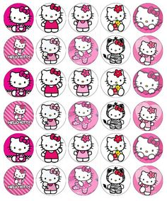 30 x Hello Kitty Cupcake Toppers Edible Wafer Paper Fairy Cake Toppers Images Hello Kitty, Hello Kitty Themes, Hello Kitty Birthday Theme, 1st Boy Birthday, Hello Kitty Cupcakes, Cat Cupcakes, Edible Cupcake Toppers, Birthday Cake Toppers, Hello Kitty Imagenes