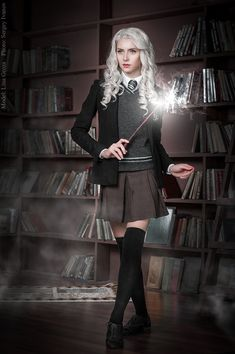Harry Potter Costume Magic of Slytherin by GreatQueenLina - Slytherin Clothes, Hogwarts Uniform, Hogwarts Costume, Harry Potter Cosplay, Harry Potter Outfits, Harry Potter Uniform, Images Harry Potter, Harry Potter Art, Estilo Harry Potter