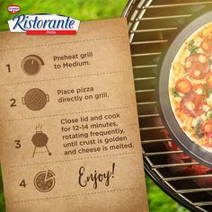 Enjoy your Labor Day with your favorite Ristorante pizza… grilled!
